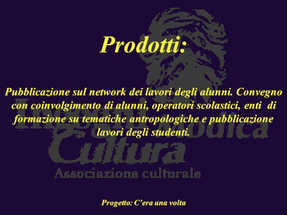 Prodotti: Pubblicazione sul network dei lavori degli alunni. Convegno con coinvolgimento di alunni, operatori scolastici, enti di formazione su temati
