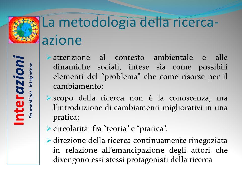 La metodologia della ricerca- azione attenzione al contesto ambientale e alle dinamiche sociali, intese sia come possibili elementi del problema che c