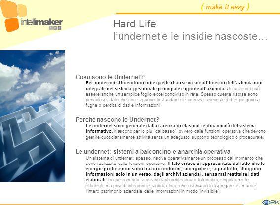 ( make it easy ) Hard Life lundernet e le insidie nascoste… Cosa sono le Undernet? Per undernet si intendono tutte quelle risorse create allinterno de