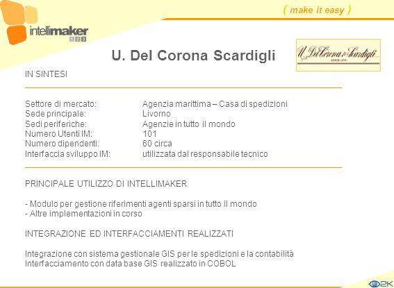 ( make it easy ) U. Del Corona Scardigli IN SINTESI ____________________________________________________________________ Settore di mercato: Agenzia m