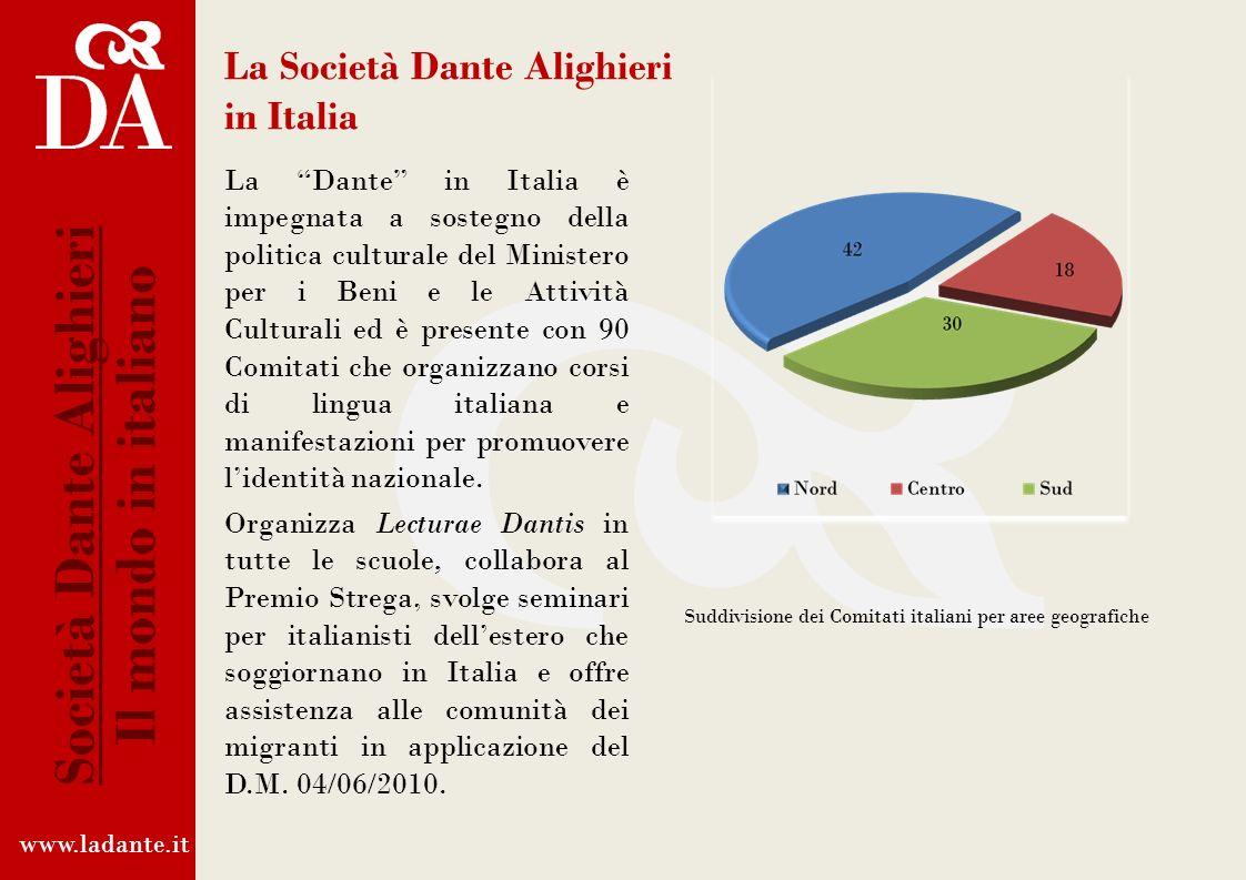 Collaborazione con il Ministero degli Affari Esteri La Società Dante Alighieri collabora con la Direzione Generale per la Promozione del Sistema Paese