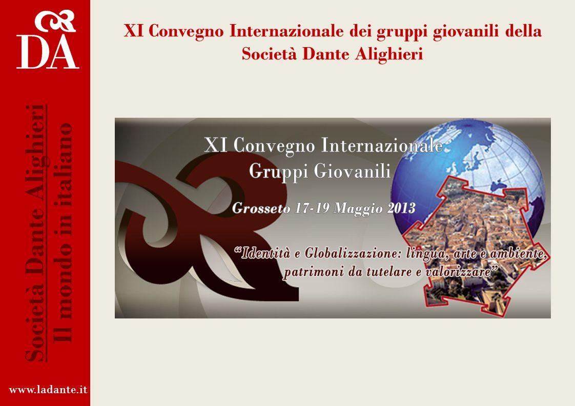 La Società Dante Alighieri in Italia La Dante in Italia è impegnata a sostegno della politica culturale del Ministero per i Beni e le Attività Cultura