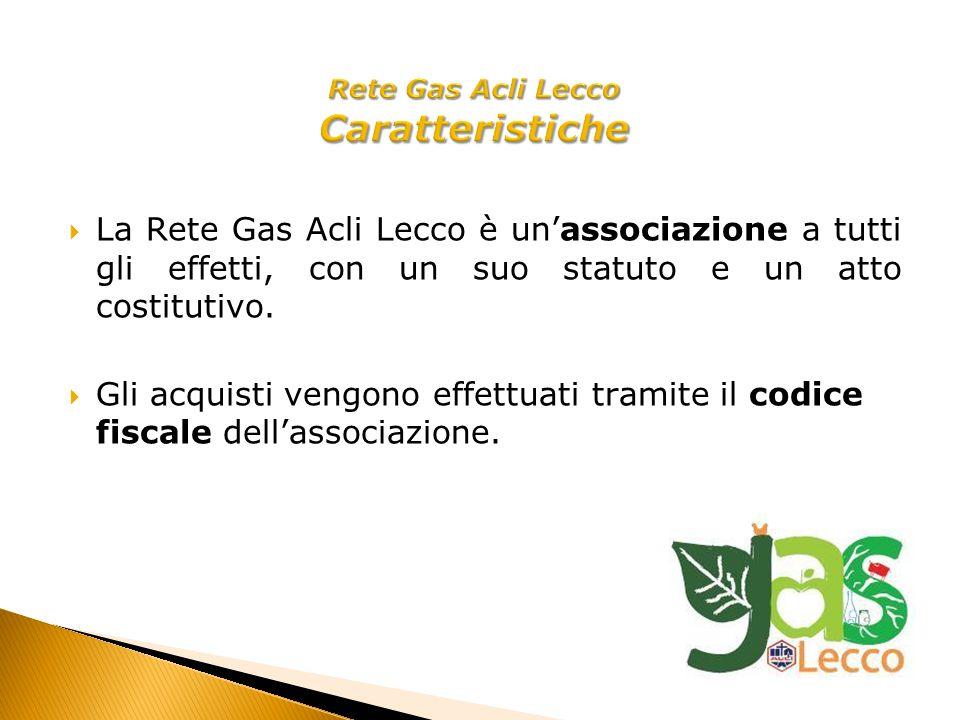 La Rete Gas Acli Lecco è unassociazione a tutti gli effetti, con un suo statuto e un atto costitutivo.
