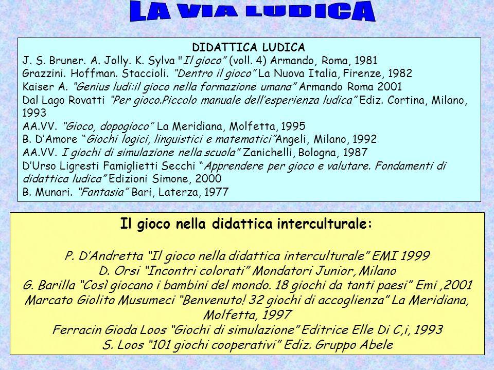 Il gioco nella didattica interculturale: P. DAndretta Il gioco nella didattica interculturale EMI 1999 D. Orsi Incontri colorati Mondatori Junior, Mil