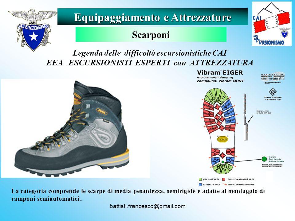 battisti.francesco@gmail.com La categoria comprende le scarpe di media pesantezza, semirigide e adatte al montaggio di ramponi semiautomatici.. Equipa