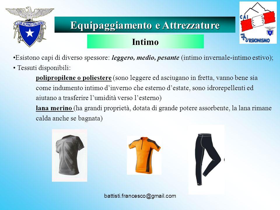battisti.francesco@gmail.com Esistono capi di diverso spessore: leggero, medio, pesante (intimo invernale-intimo estivo); Tessuti disponibili: polipro