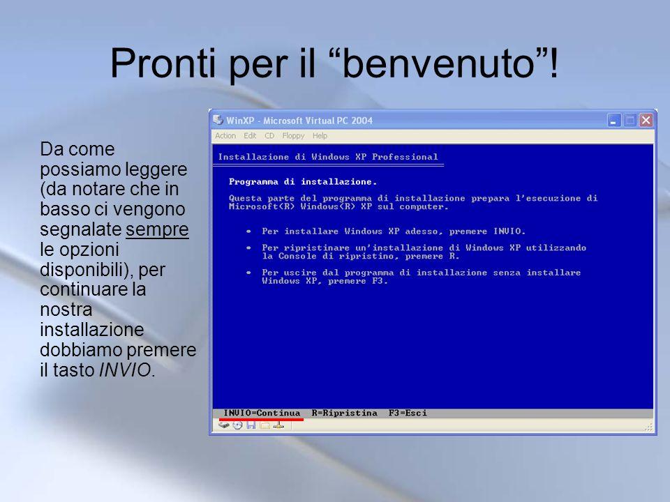 Configurazione della lingua Ora ci verranno presentate diverse richieste per una prima configurazione del sistema.