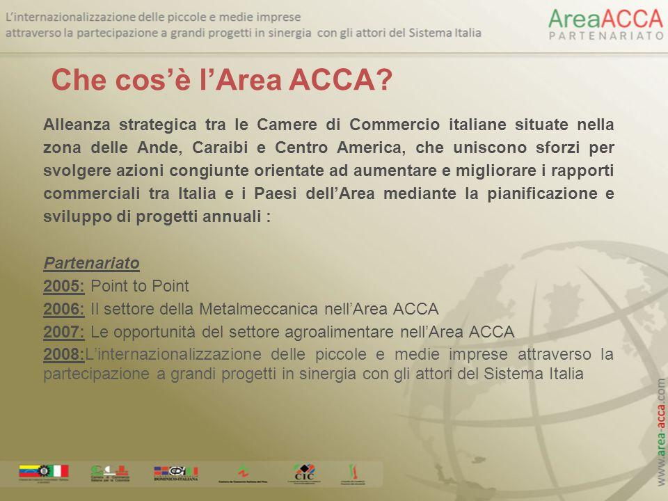 Alleanza strategica tra le Camere di Commercio italiane situate nella zona delle Ande, Caraibi e Centro America, che uniscono sforzi per svolgere azio