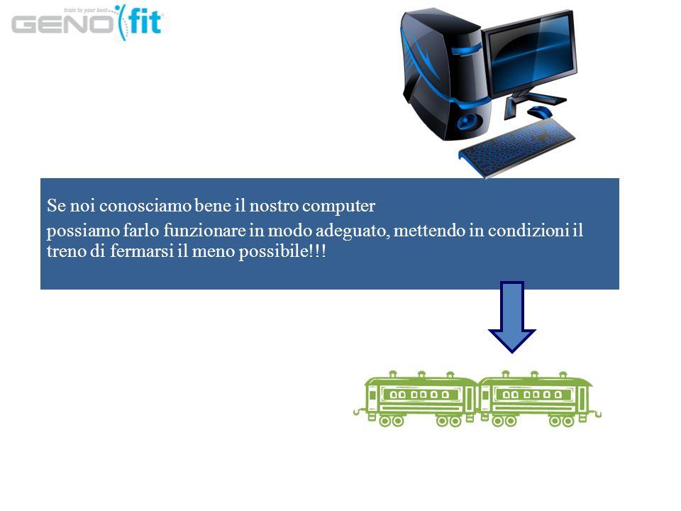 Se noi conosciamo bene il nostro computer possiamo farlo funzionare in modo adeguato, mettendo in condizioni il treno di fermarsi il meno possibile!!!