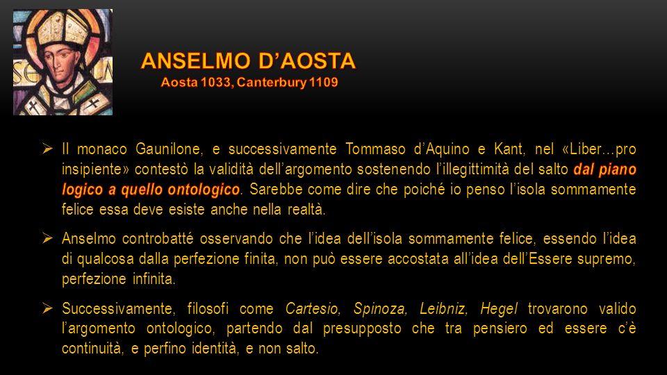 Teologia e antropologia La teologia anselmiana segue da vicino quella di Agostino.