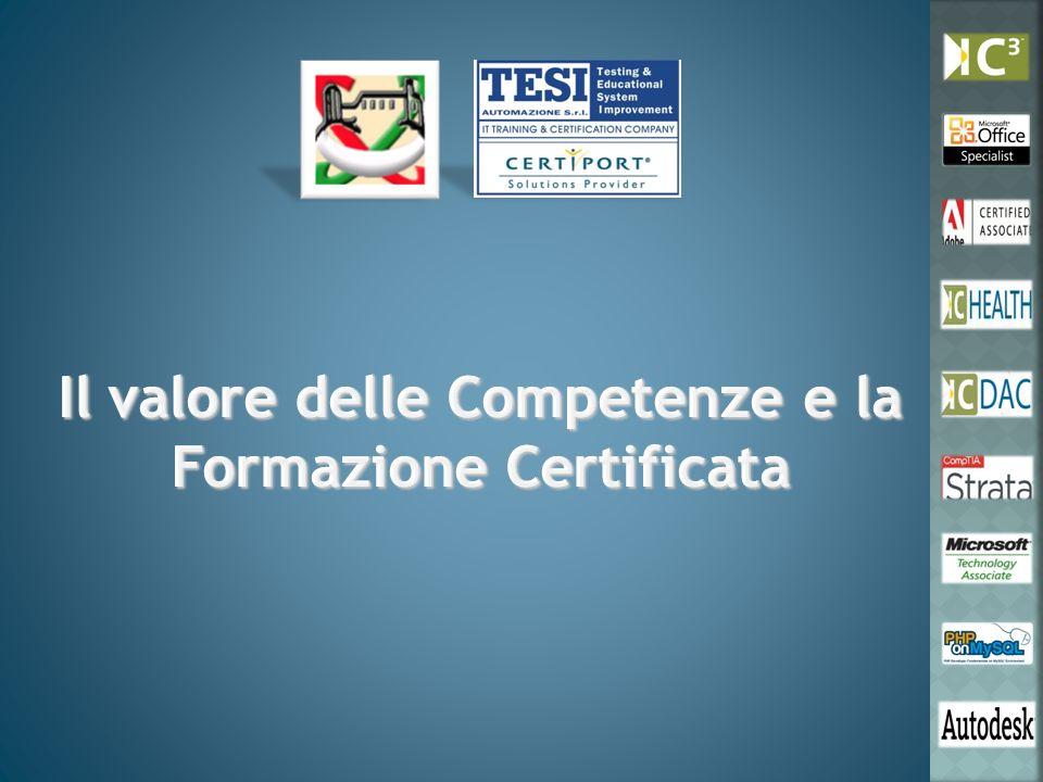Il valore delle Competenze e la Formazione Certificata