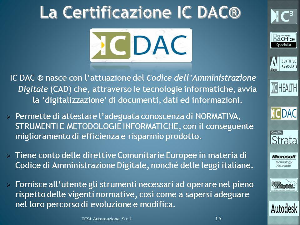 IC DAC ® nasce con lattuazione del Codice dellAmministrazione Digitale (CAD) che, attraverso le tecnologie informatiche, avvia la digitalizzazione di