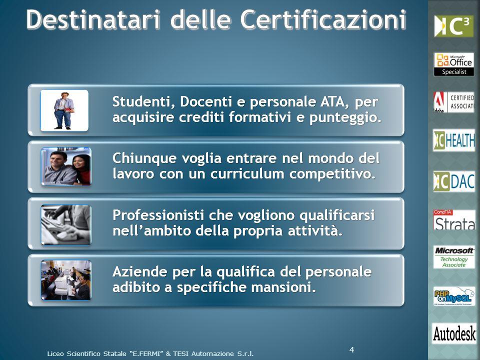 Studenti, Docenti e personale ATA, per acquisire crediti formativi e punteggio. Chiunque voglia entrare nel mondo del lavoro con un curriculum competi