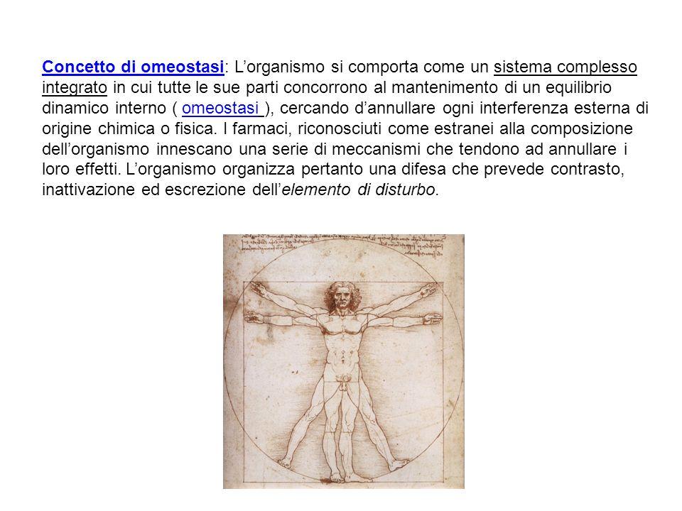 Concetto di omeostasi: Lorganismo si comporta come un sistema complesso integrato in cui tutte le sue parti concorrono al mantenimento di un equilibri