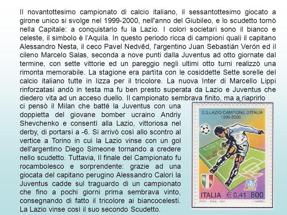 Nel Campionato 1998-99 la Lazio è considerata ad un certo punto della stagione destinata a festeggiare il bis del titolo conquistato nel 1974. Ma a so