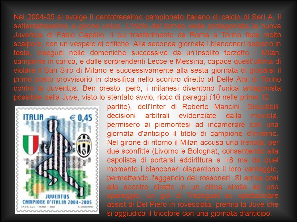 Il campionato 2003-04 fu l'anno del Milan: dopo alcune stagioni in chiaroscuro, la società milanese tornò, infatti, protagonista in Italia e in Europa
