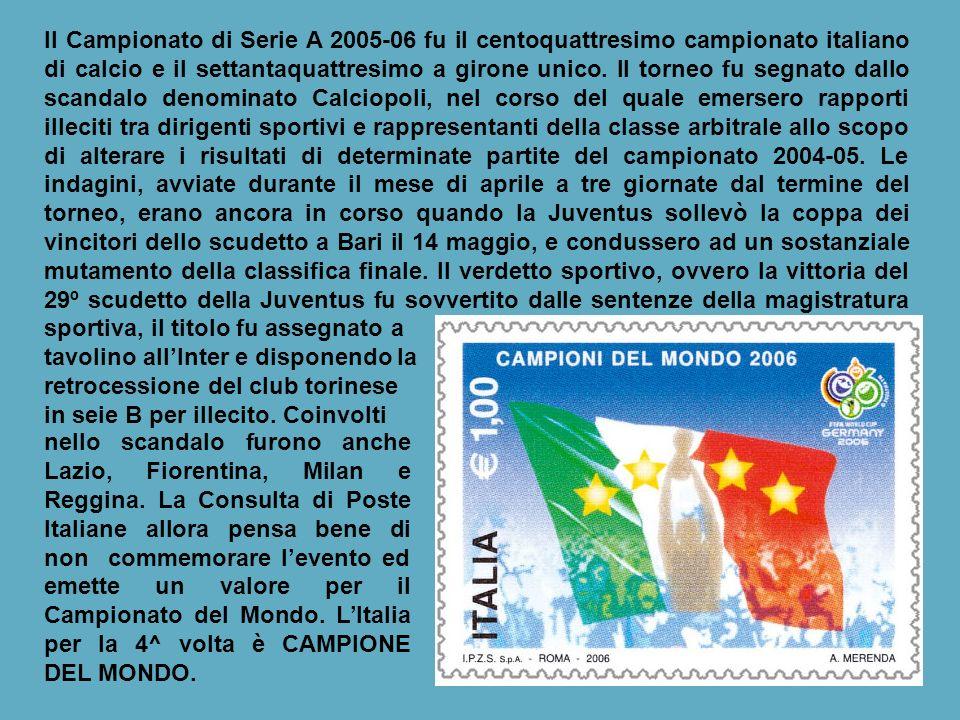 Nel 2004-05 si svolge il centotreesimo campionato italiano di calcio di Seri A, il settantatreesimo a girone unico.