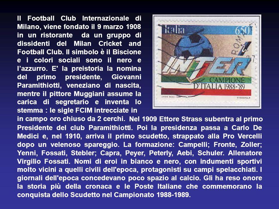 L'Associazione Calcio Milan S.p.A., fu fondata il 16 dicembre 1899. Il simbolo è il Diavolo e i colori sociali sono il rosso e il nero. Figura al nono