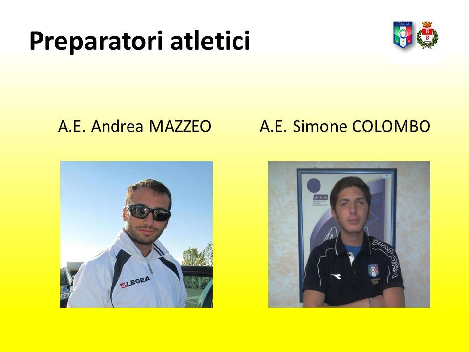 Preparatori atletici A.E. Andrea MAZZEOA.E. Simone COLOMBO