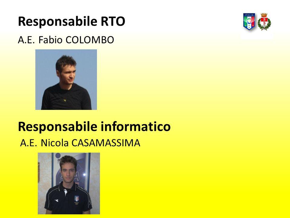 Responsabile RTO A.E. Fabio COLOMBO A.E. Nicola CASAMASSIMA Responsabile informatico