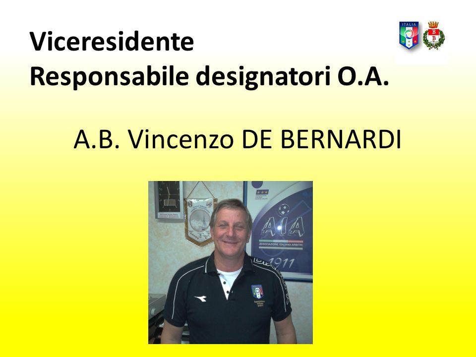 A.B. Vincenzo DE BERNARDI Viceresidente Responsabile designatori O.A.