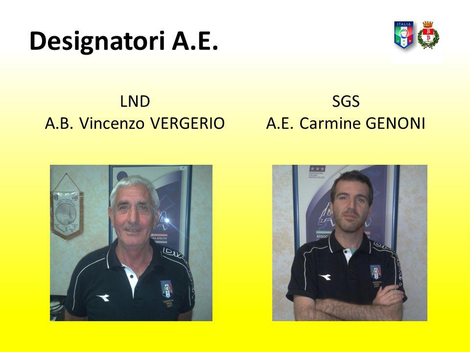 Segreteria A.E. Pietro BRINDISI A.E. Barbara CAGNONI A.E. Luigi DORTO