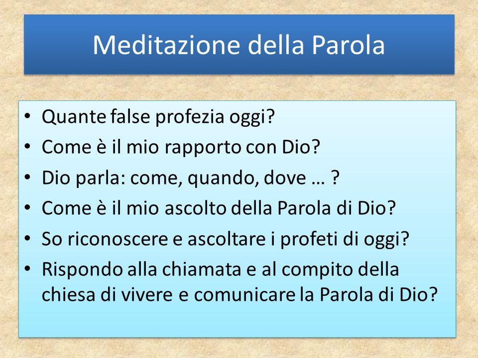 Meditazione della Parola Quante false profezia oggi.