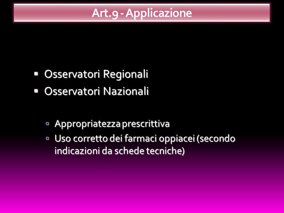 Osservatori Regionali Osservatori Regionali Osservatori Nazionali Osservatori Nazionali Appropriatezza prescrittiva Appropriatezza prescrittiva Uso co