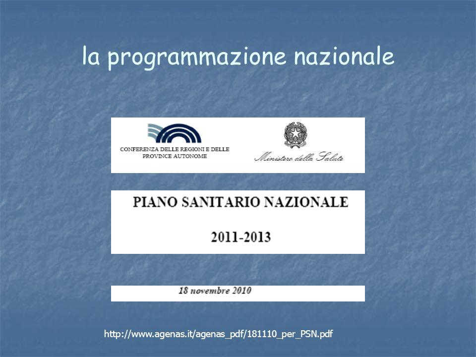 la programmazione nazionale http://www.agenas.it/agenas_pdf/181110_per_PSN.pdf