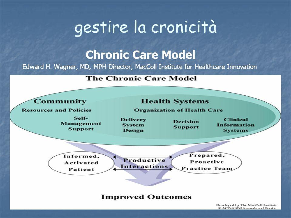 gestire la cronicità Chronic Care Model Edward H. Wagner, MD, MPH Director, MacColl Institute for Healthcare Innovation