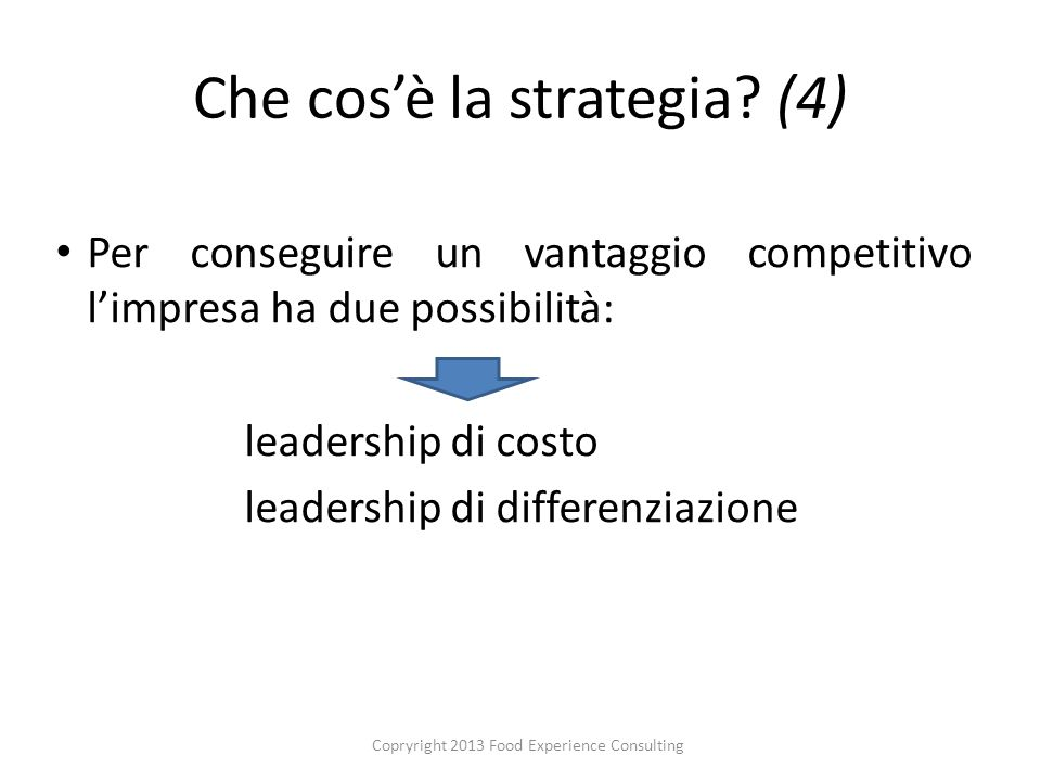 Che cosè la strategia.
