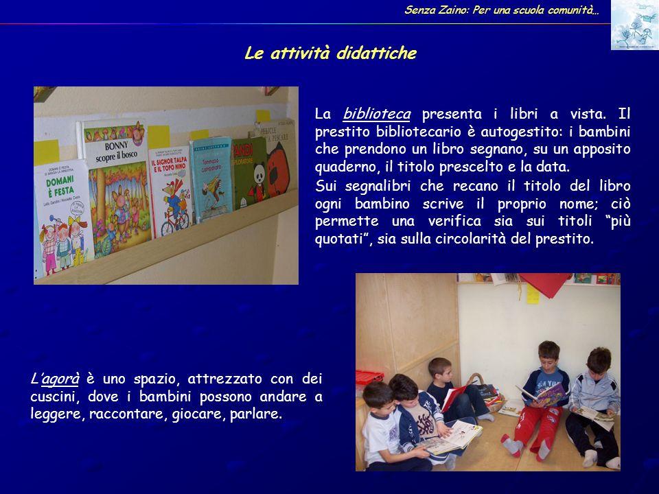 Alcuni laboratori Senza Zaino: Per una scuola comunità…