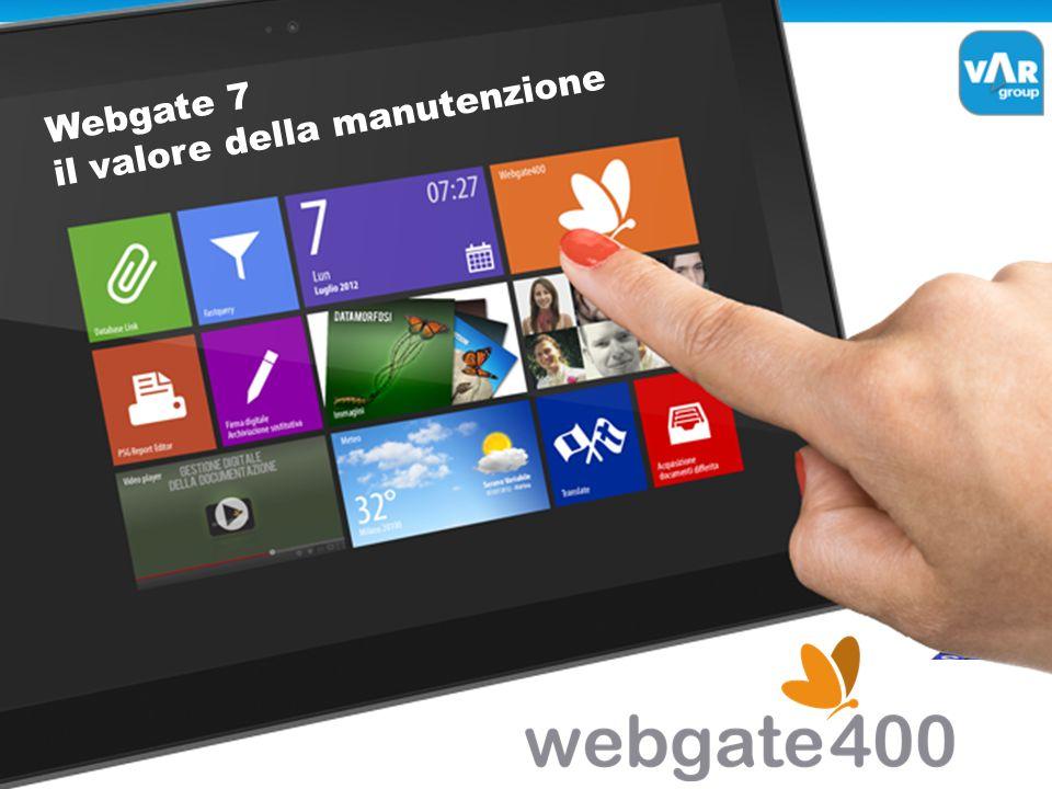 Webgate 7 il valore della manutenzione
