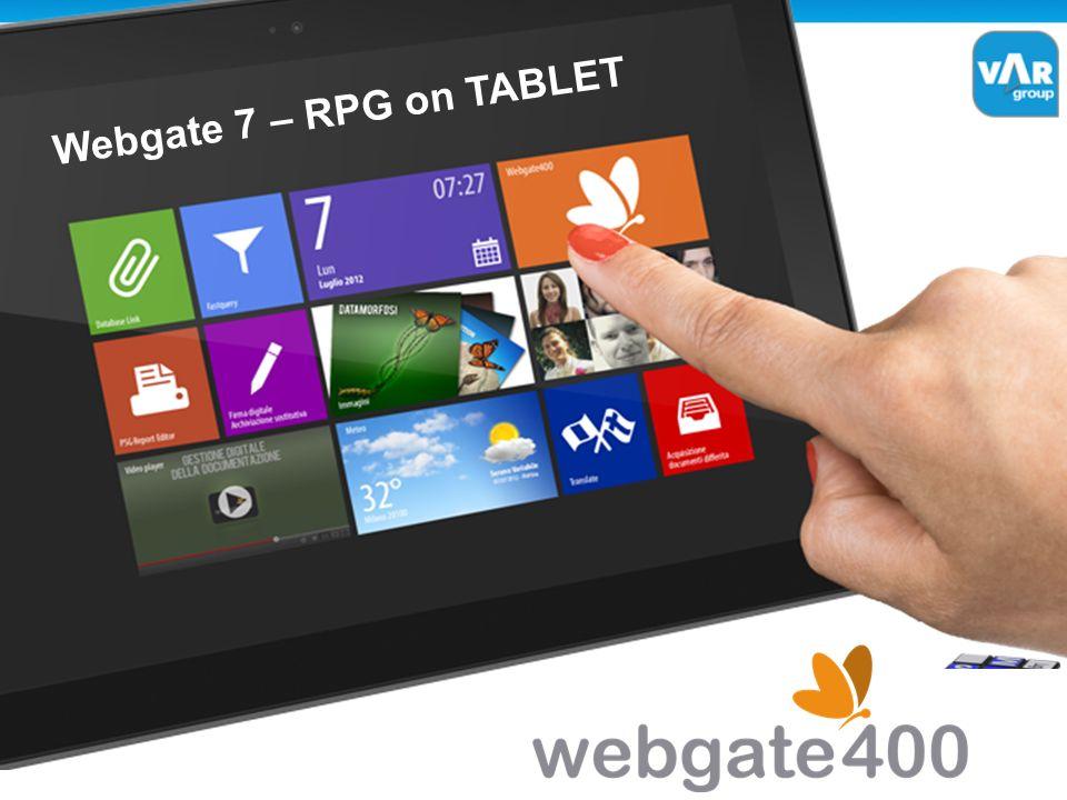 Webgate 7 – RPG on TABLET