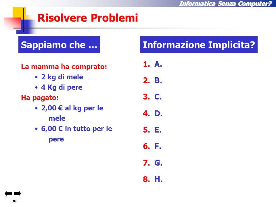 37 Informatica Senza Computer. Risolvere problemi ! ! .