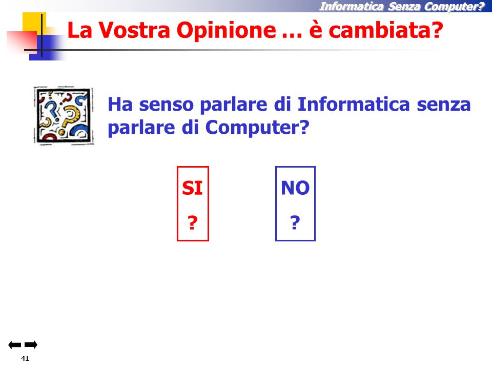 40 Informatica Senza Computer.