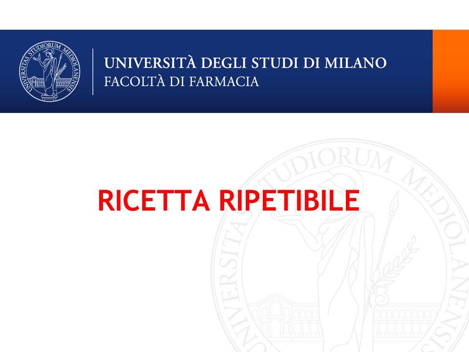 RICETTA RIPETIBILE