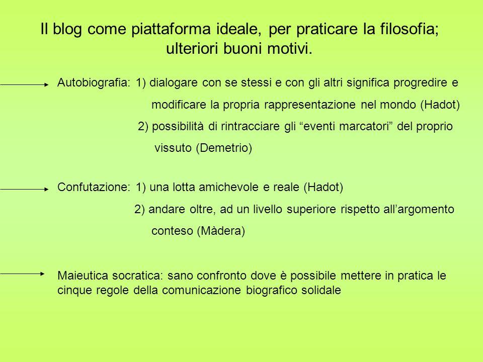 Il blog come piattaforma ideale, per praticare la filosofia; ulteriori buoni motivi.