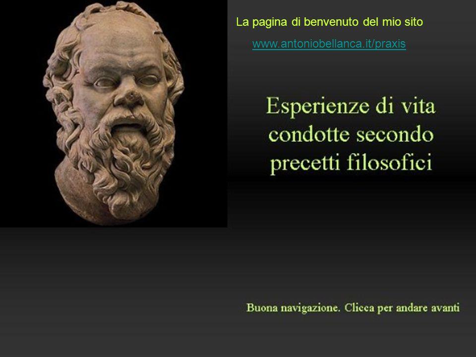 La pagina di benvenuto del mio sito www.antoniobellanca.it/praxis