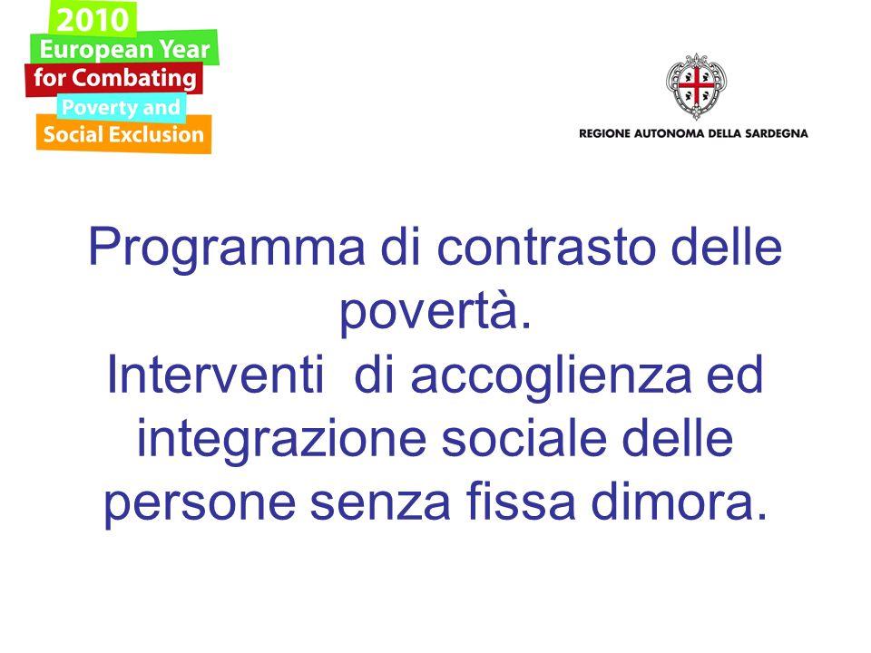 Programma di contrasto delle povertà.