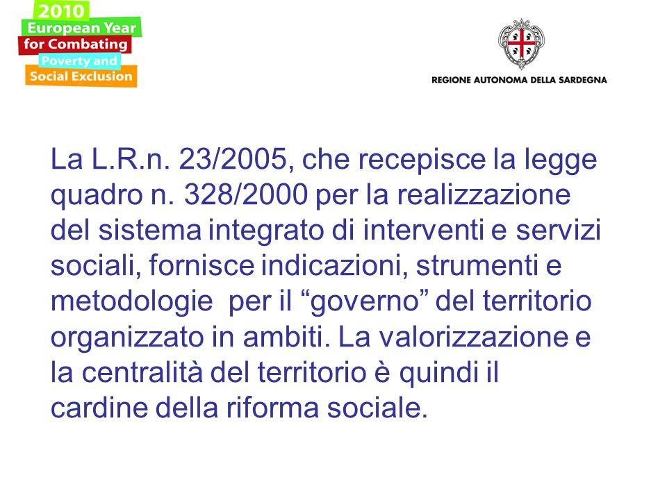 La L.R.n. 23/2005, che recepisce la legge quadro n.