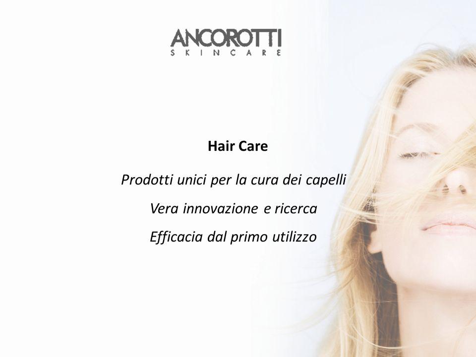Prodotti unici per la cura dei capelli Vera innovazione e ricerca Efficacia dal primo utilizzo Hair Care