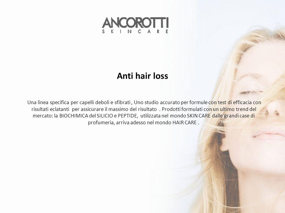 Una linea specifica per capelli deboli e sfibrati, Uno studio accurato per formule con test di efficacia con risultati eclatanti per assicurare il massimo del risultato.