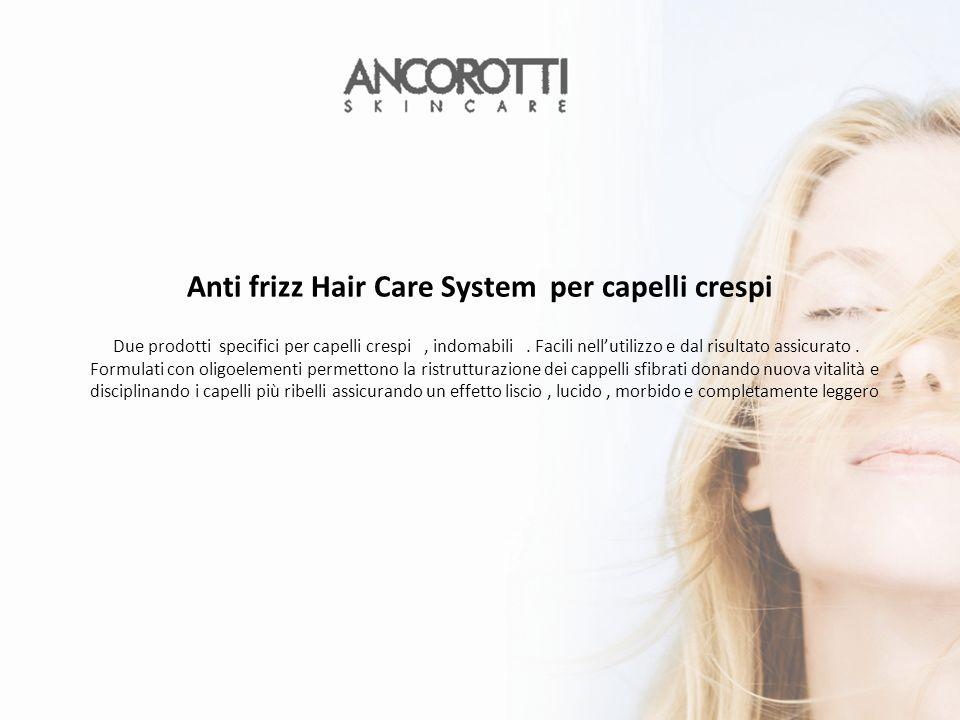 Due prodotti specifici per capelli crespi, indomabili.