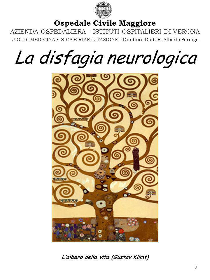 0 La disfagia neurologica Lalbero della vita (Gustav Klimt) AZIENDA OSPEDALIERA - ISTITUTI OSPITALIERI DI VERONA Ospedale Civile Maggiore U.O.