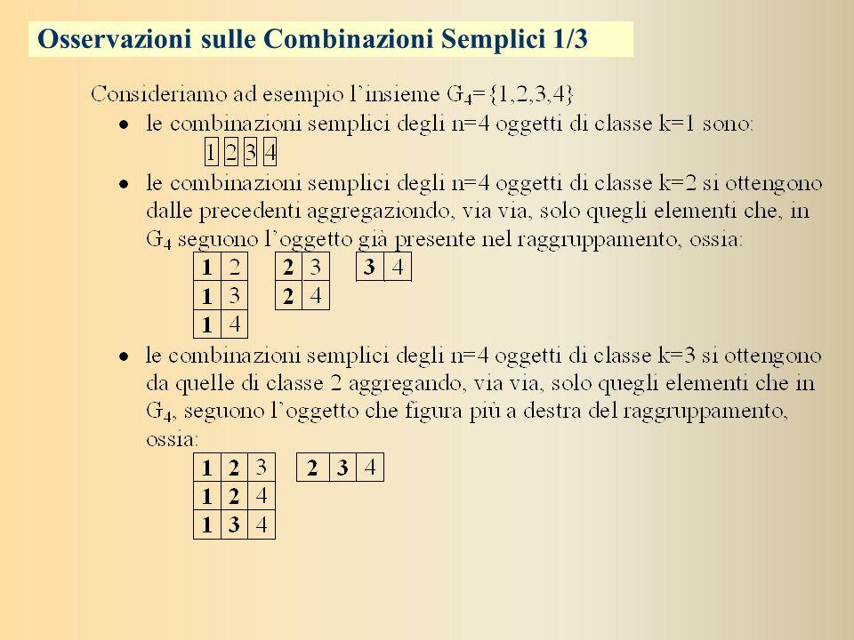 Combinazioni Semplici