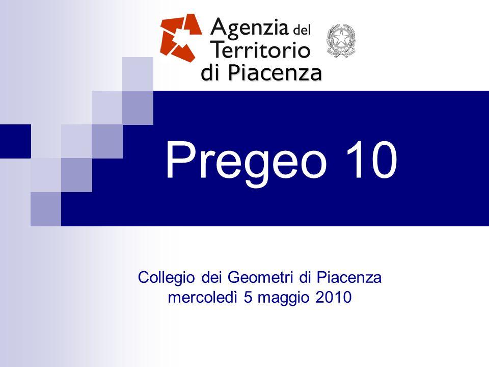 Pregeo 10 di Piacenza Collegio dei Geometri di Piacenza mercoledì 5 maggio 2010