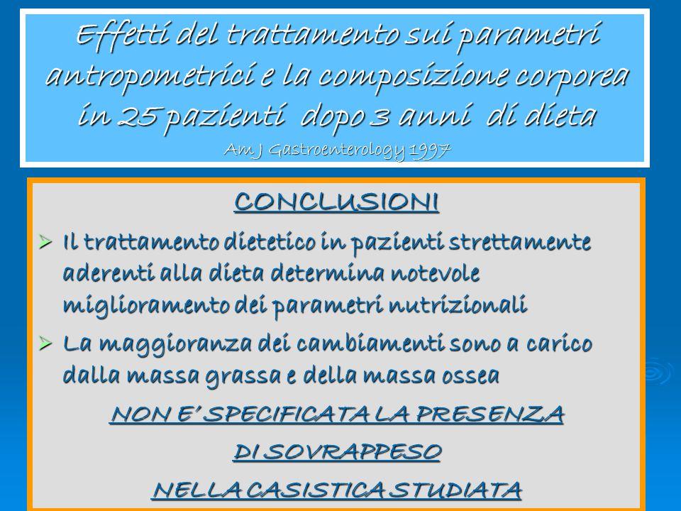 Congresso Regionale Aic 2005 Effetti del trattamento sui parametri antropometrici e la composizione corporea in 25 pazienti dopo 3 anni di dieta Am J