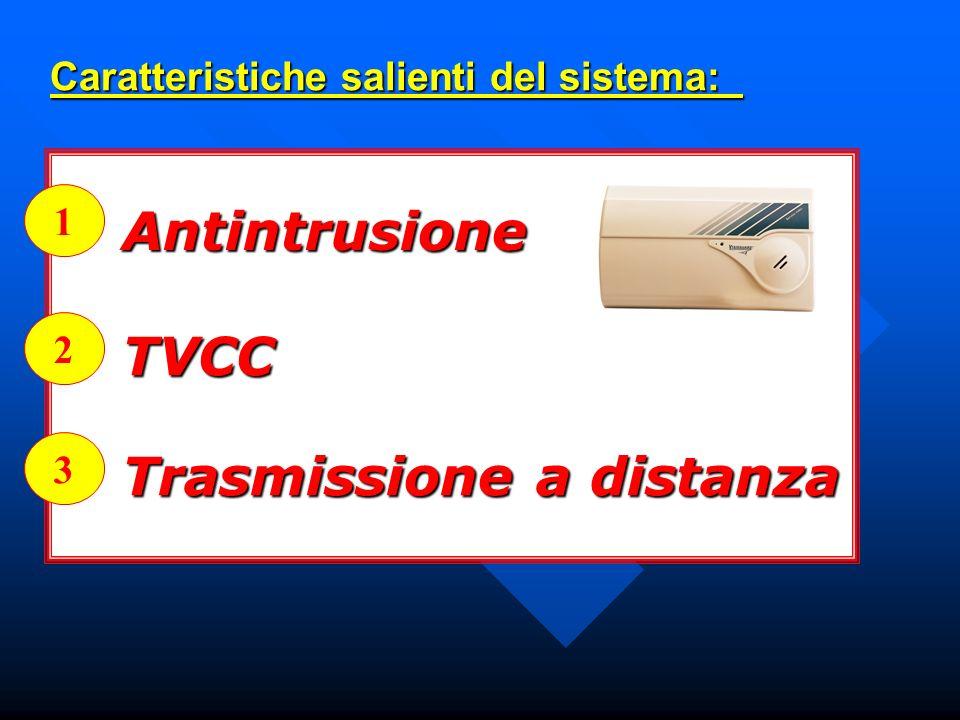 Caratteristiche salienti del sistema: Caratteristiche salienti del sistema: Antintrusione TVCC Trasmissione a distanza 1 2 3