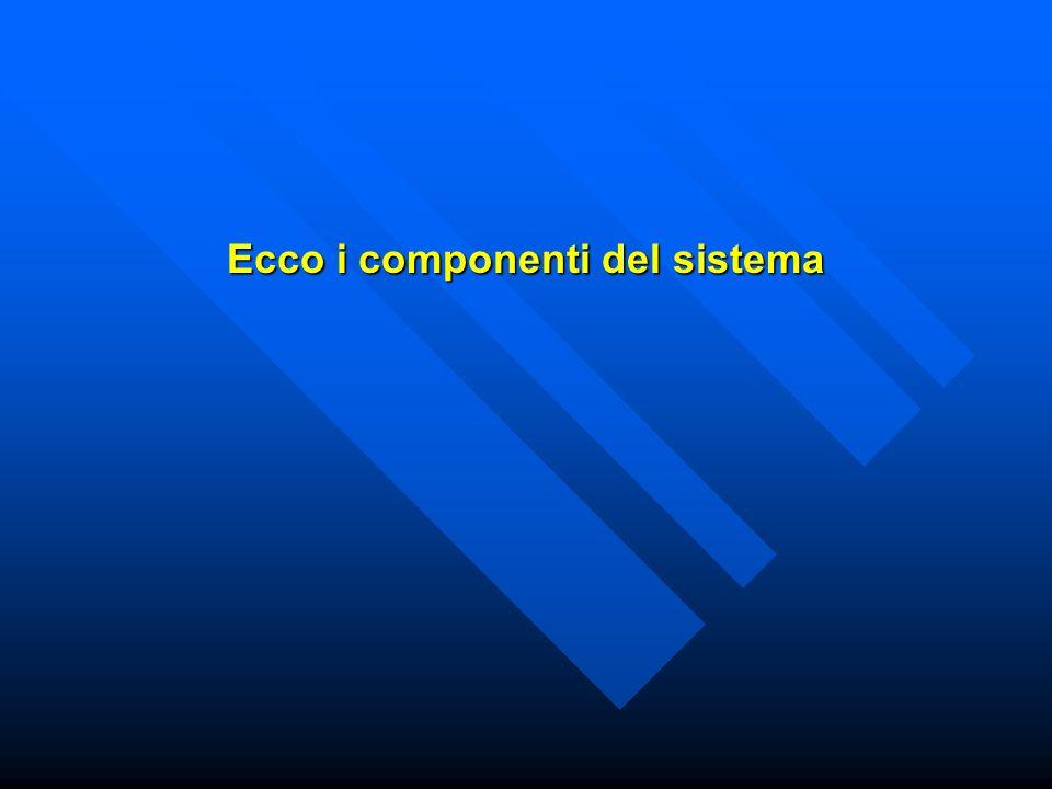 Ecco i componenti del sistema
